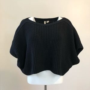 Anthro Moth cropped sweater
